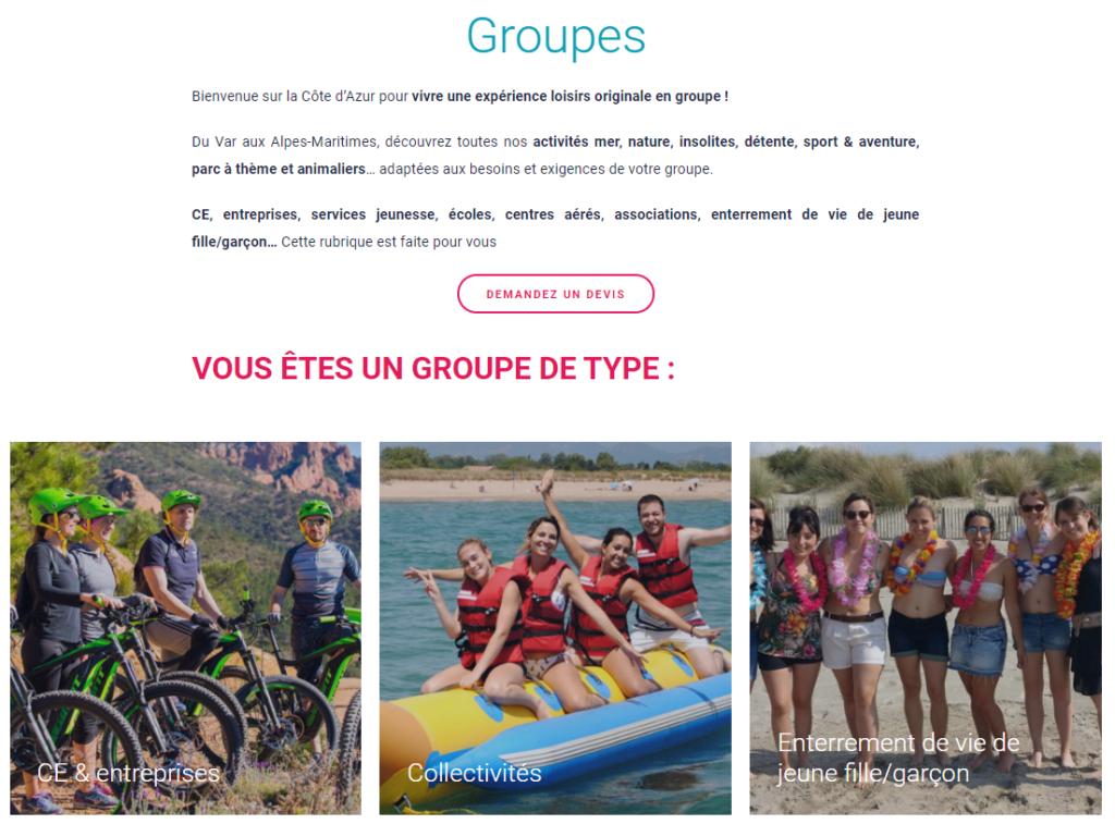 Capture - Loisirs Groupes