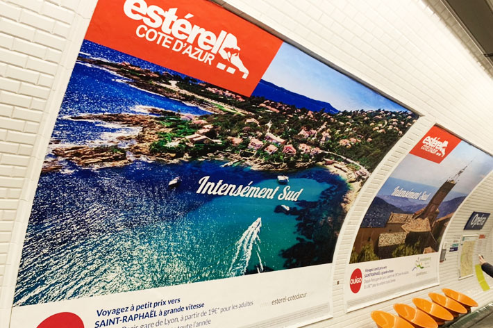 Estérel Côte d'Azur investit le métro Opéra à Paris