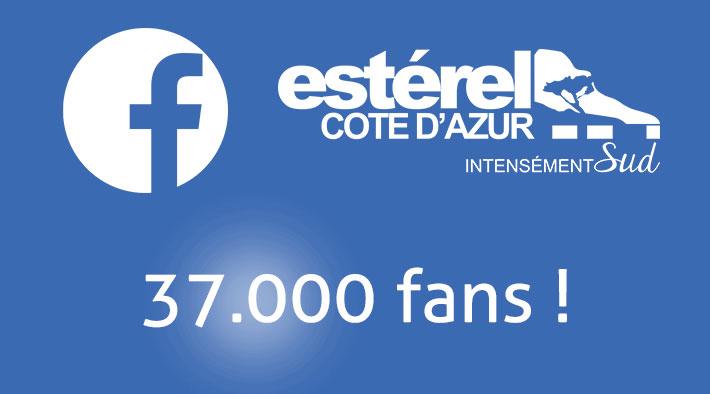 Facebook : Estérel Côte d'Azur atteint les 37.000 fans !