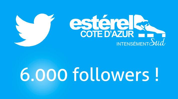 Twitter : Plus de 6.000 abonnés pour @EsterelCoteAzur