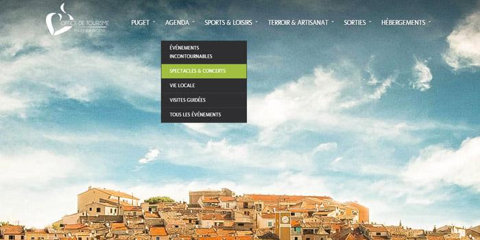 Le site de Puget sur Argens intègre APIDAE