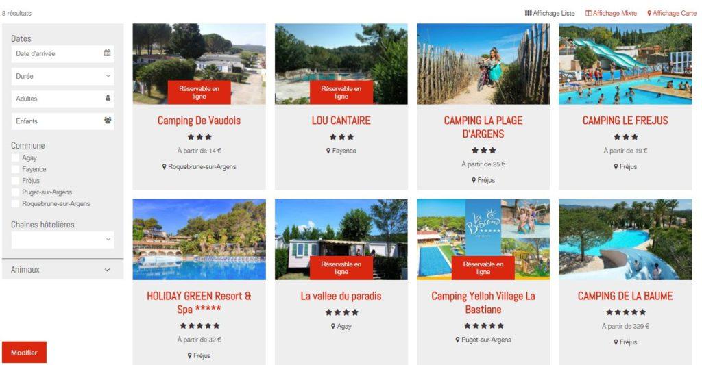 Site Reservation hebergement hotel ECA