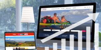 Frequentation Sites Internet Esterel Cote d'Azur