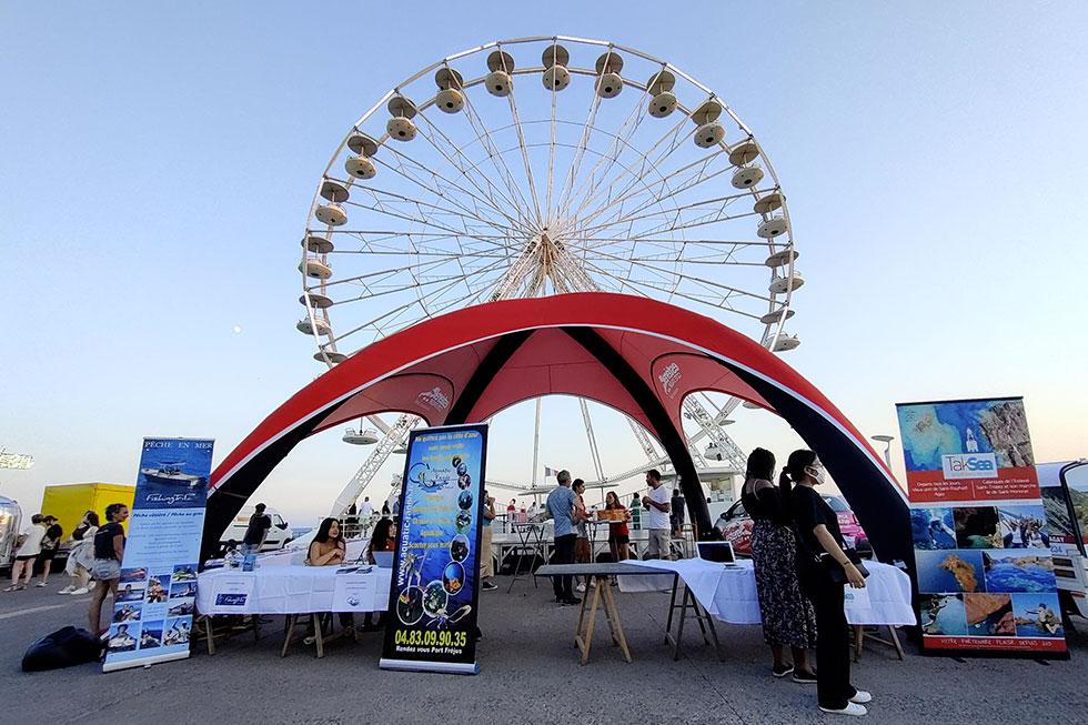 Tente Esterel Cote d'Azur Saint-Raphael grande roue