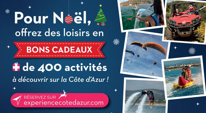 Expérience Côte d'Azur : plein feu sur les bons cadeaux pour Noël !