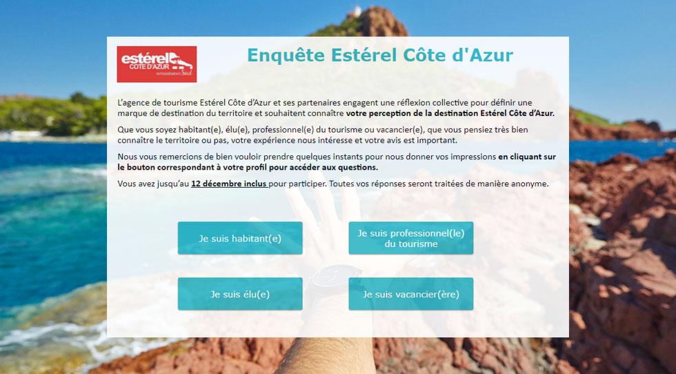 Plateforme de marque Estérel Côte d'Azur : début des enquêtes en ligne