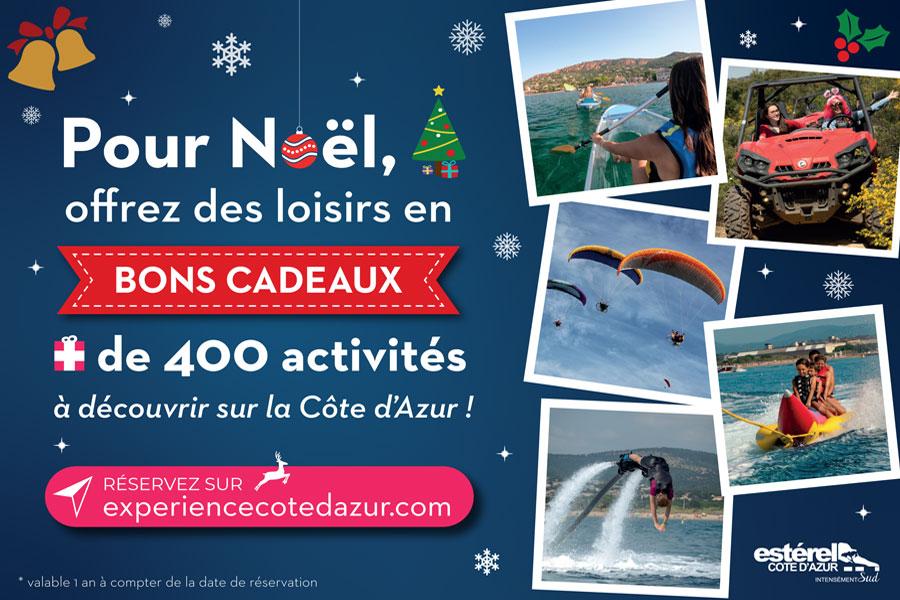 Expérience Côte d'Azur : Valorisation des bons cadeaux en ligne