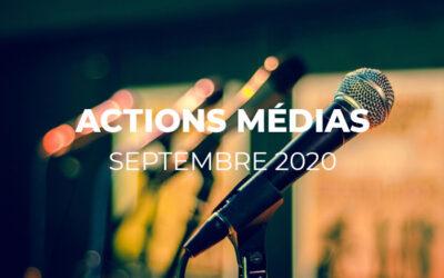 MEDIAS – Revue septembre 2020