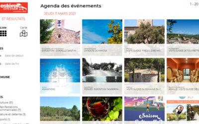 Widgets : Estérel Côte d'Azur met à votre disposition ses modules agenda / restaurants / marchés…